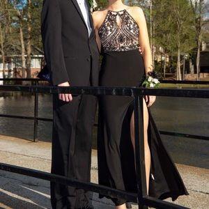 Black Prom Dress with Beading